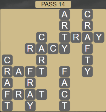 Wordscapes Ravine Pass 14 - Level 4222 Answers