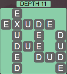 Wordscapes Ravine Depth 11 - Level 4235 Answers