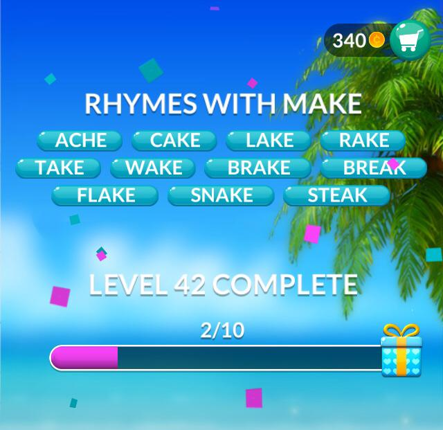 Word Stacks Level 42 Answers