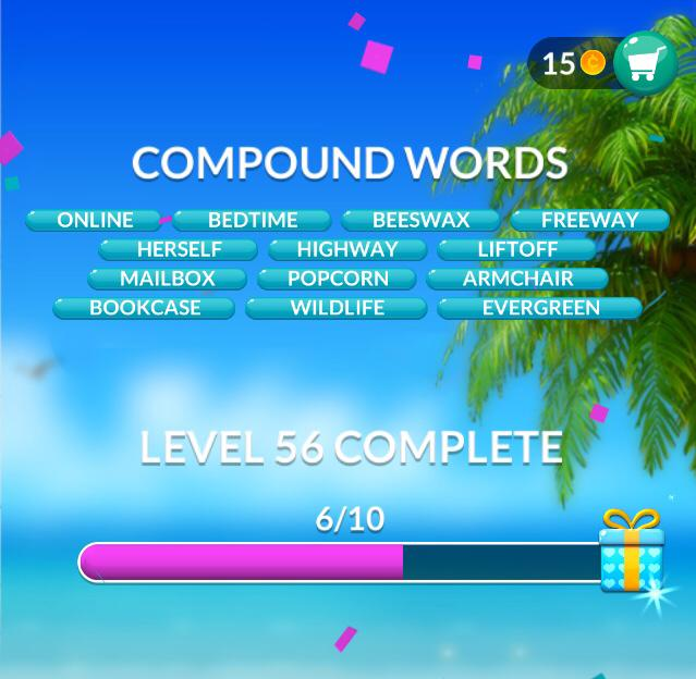 Word Stacks Level 56 Answers