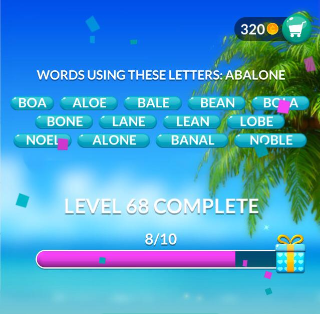 Word Stacks Level 68 Answers