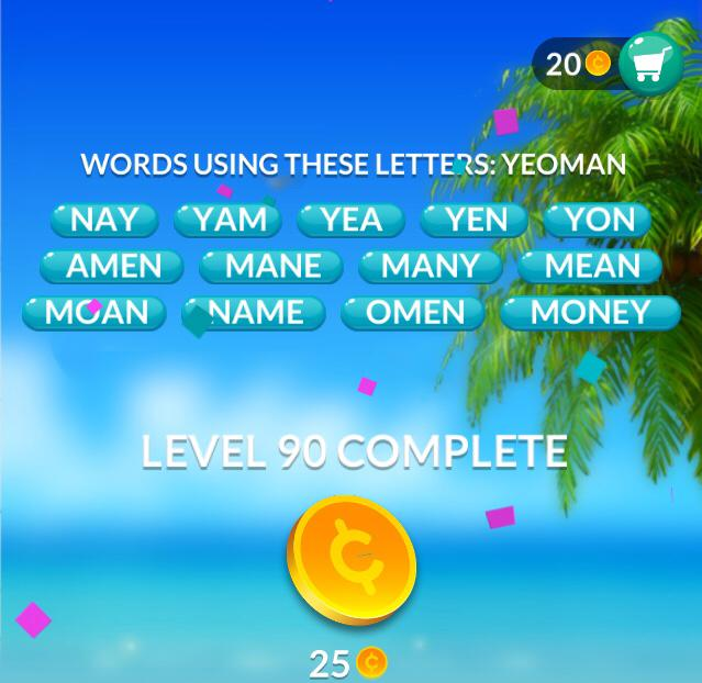 Word Stacks Level 90 Answers