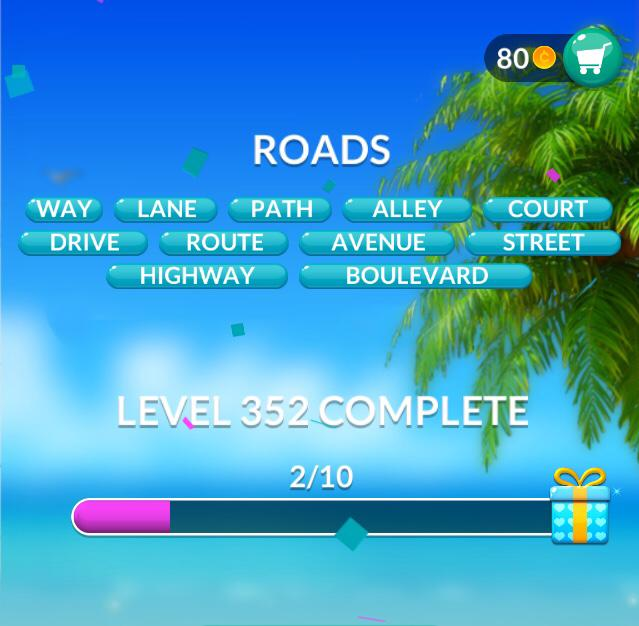 Word Stacks Level 352 Roads Answers