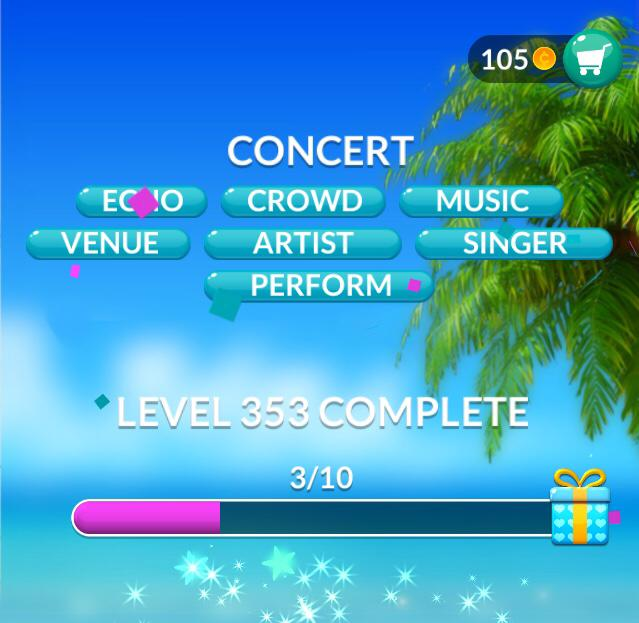 Word Stacks Level 353 Concert Answers