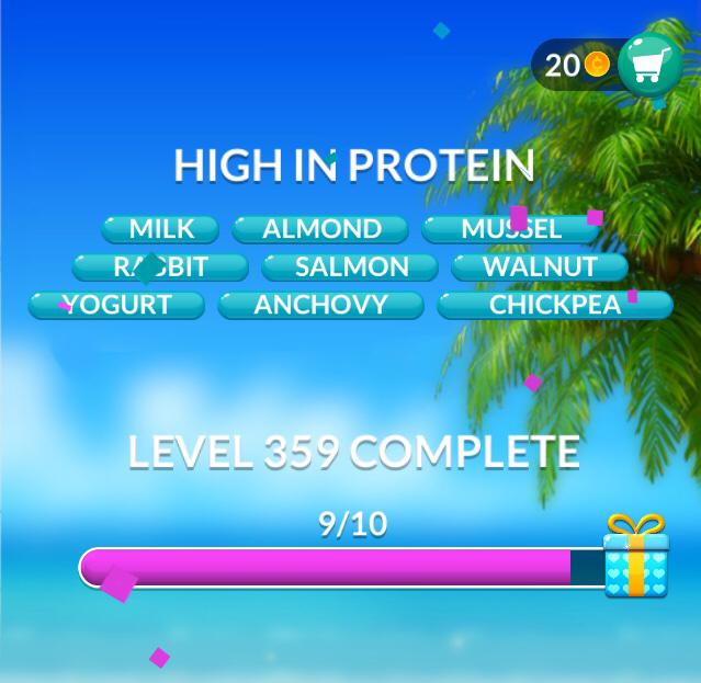 Word Stacks Level 359 High In Protein Answers