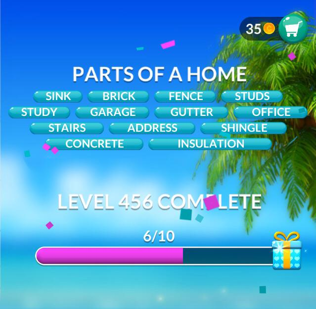 Word Stacks Level 456 Parts of a Home Answers