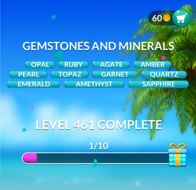 Word Stacks Level 461 Gemstones and Minerals Answers