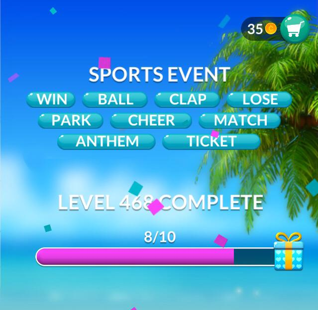 Word Stacks Level 468 Sports Event Answers
