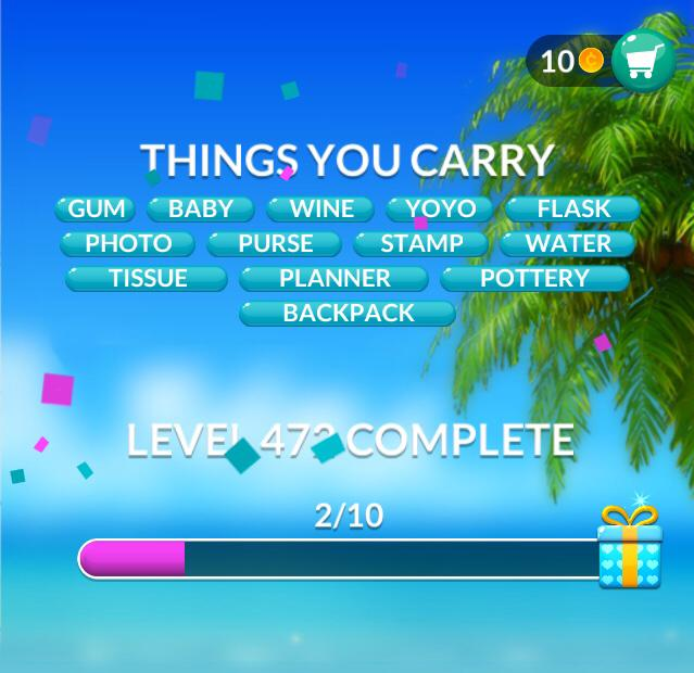 Word Stacks Level 472 Things you carry Answers