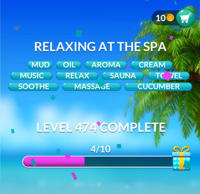 Word Stacks Level 474 Relaxing at the spa Answers