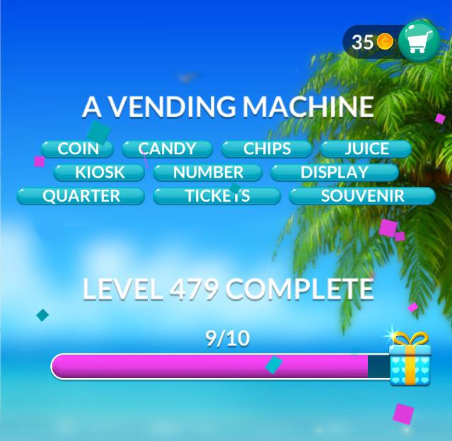 Word Stacks Level 479 A vending machine Answers