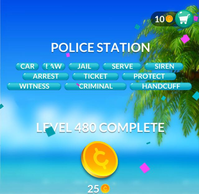Word Stacks Level 480 Police station Answers
