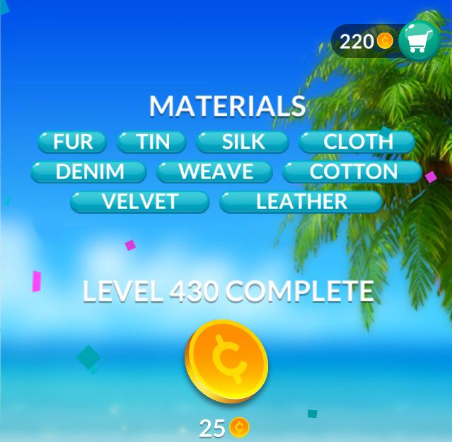 Word Stacks Level 430 Materials Answers