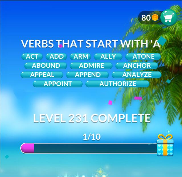 Word Stacks Level 231 Answers