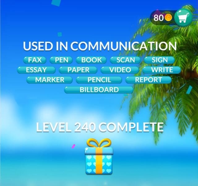 Word Stacks Level 240 Answers