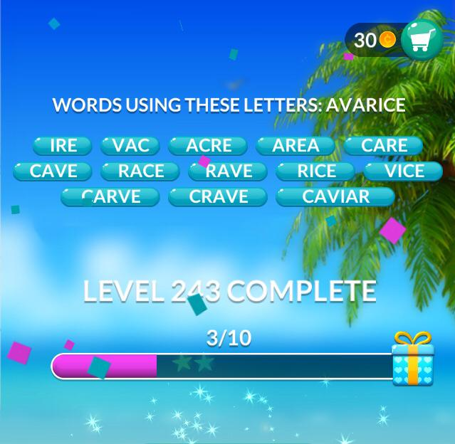 Word Stacks Level 243 Answers