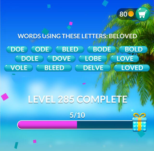 Word Stacks Level 285 Answers