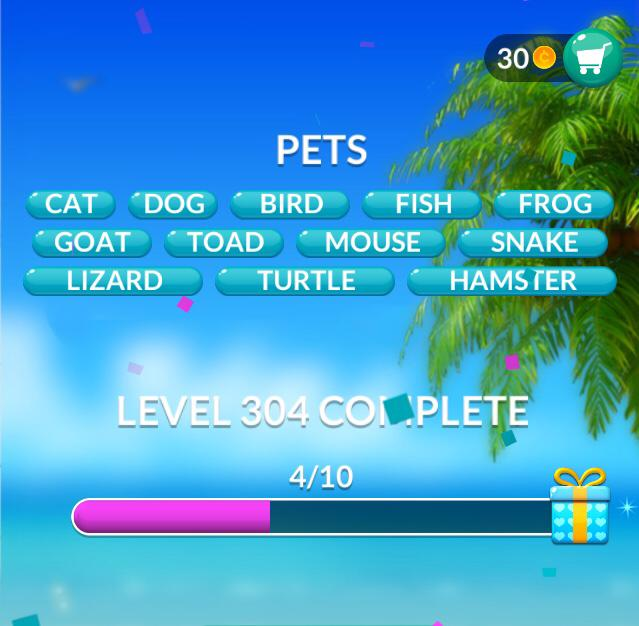 Word Stacks Level 304 Pets Answers