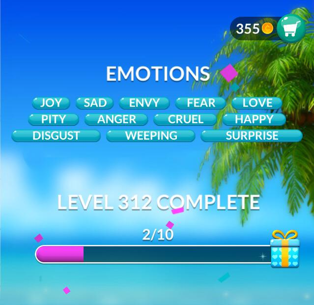 Word Stacks Level 312 Emotions Answers