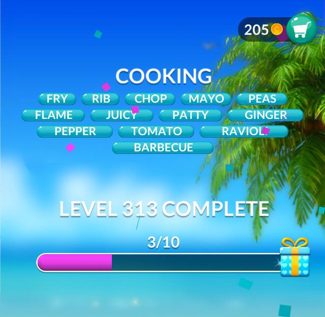Word Stacks Level 313 Cooking Answers