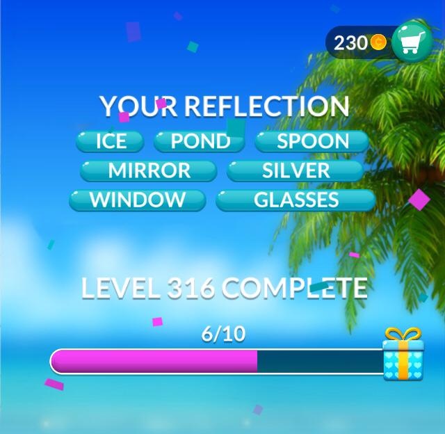 Word Stacks Level 316 Your reflection Answers