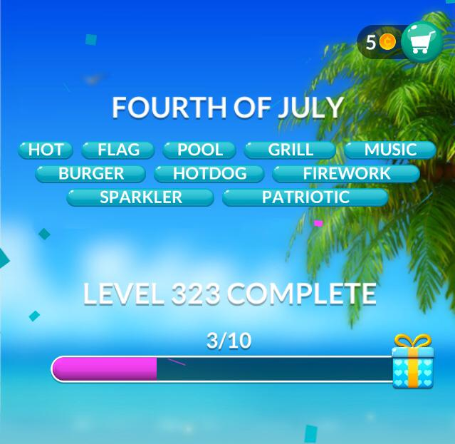 Word Stacks Level 323 Fourth of July Answers
