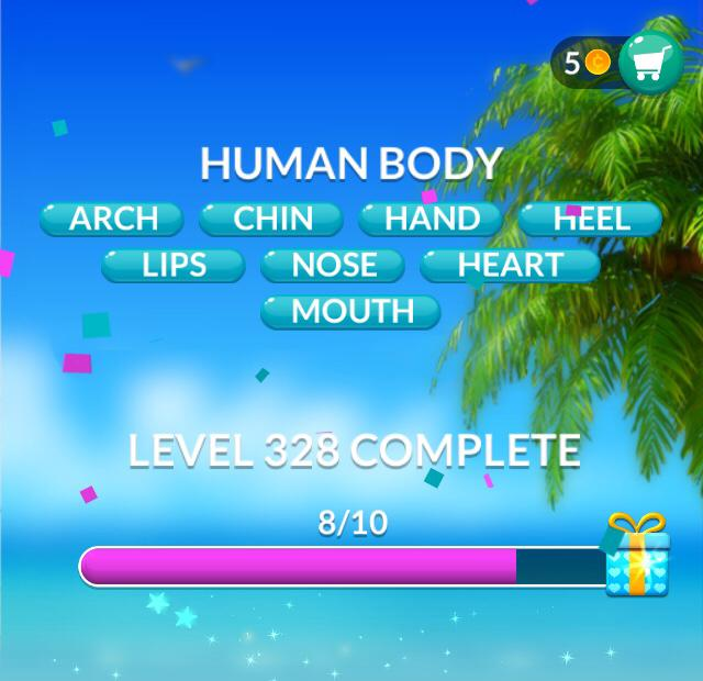 Word Stacks Level 328 Human body Answers