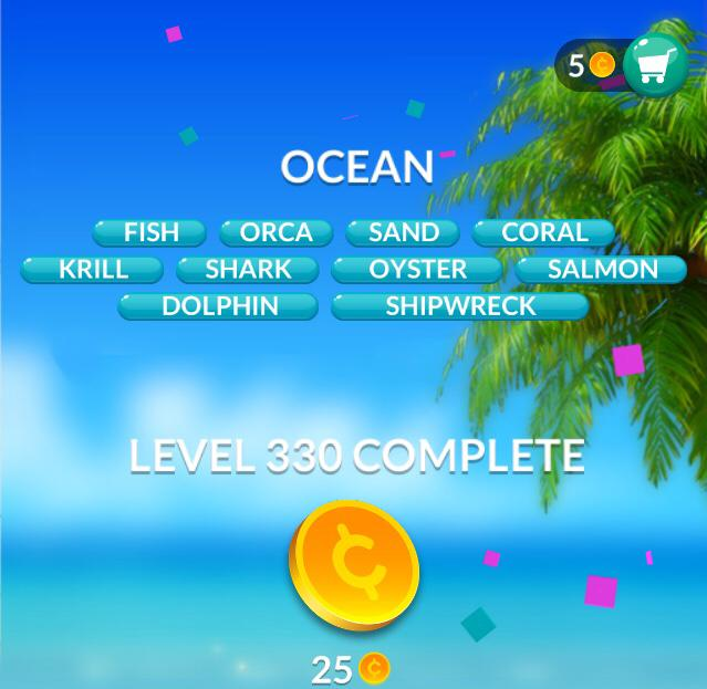 Word Stacks Level 330 Ocean Answers