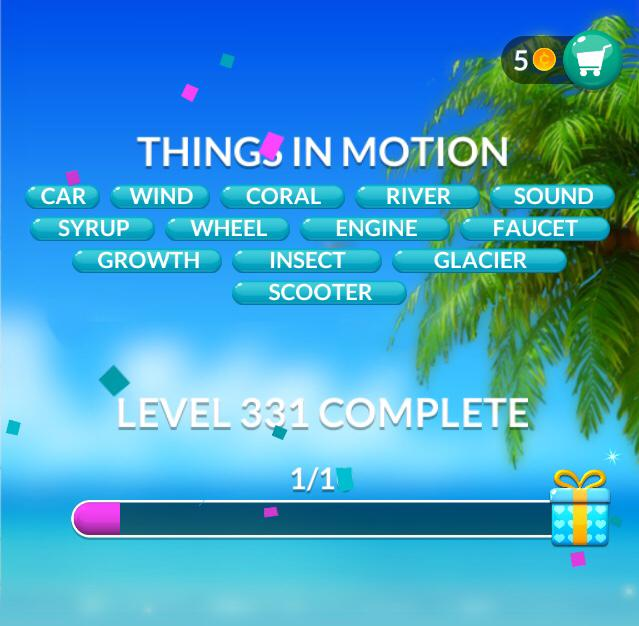 Word Stacks Level 331 Things in motion Answers