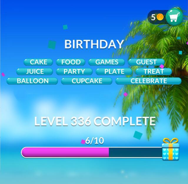 Word Stacks Level 336 Birthday Answers