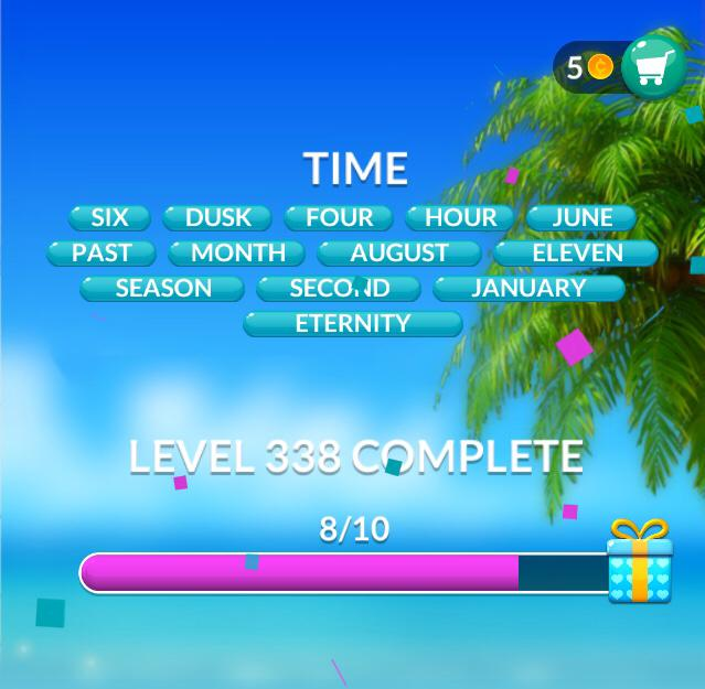 Word Stacks Level 338 Time Answers