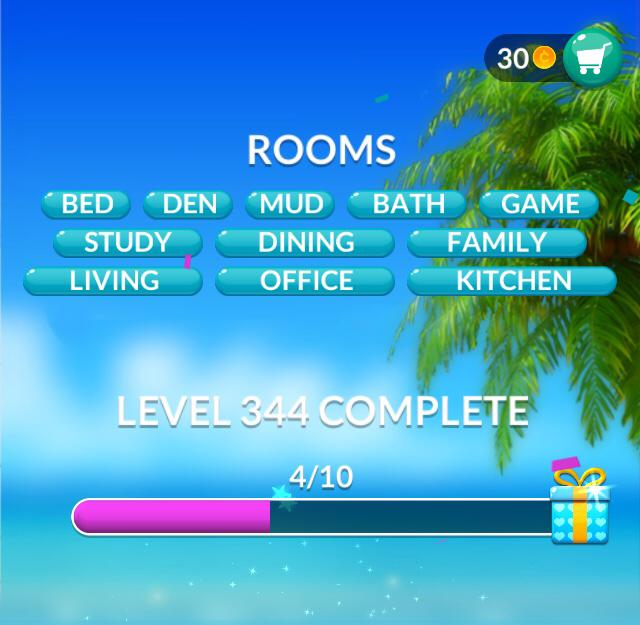 Word Stacks Level 344 Rooms Answers