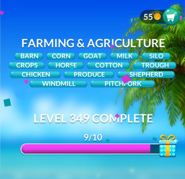 Word Stacks Level 349 Farming & Agriculture Answers