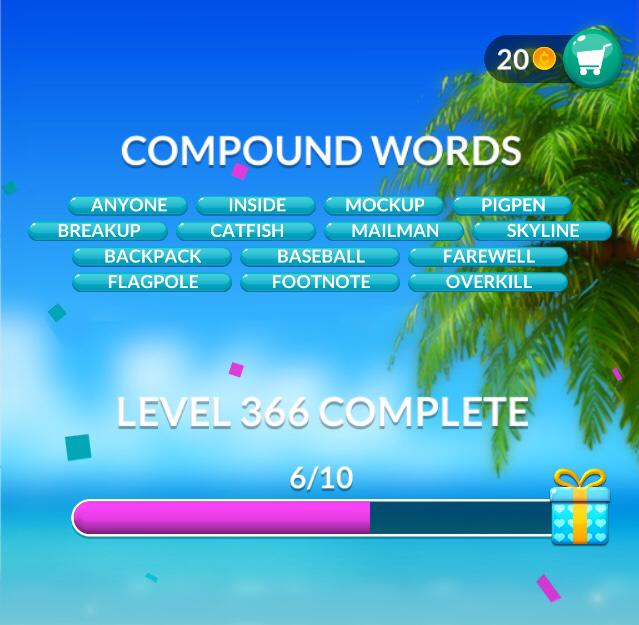 Word Stacks Level 366 Compound words Answers