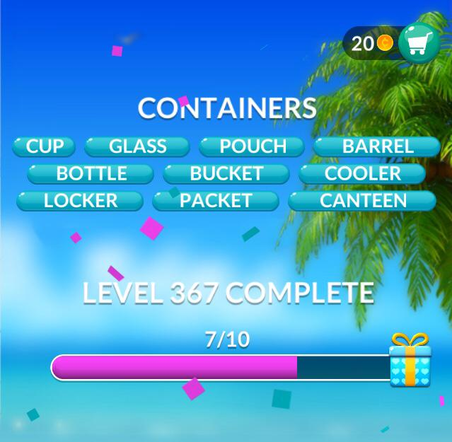 Word Stacks Level 367 Containers Answers