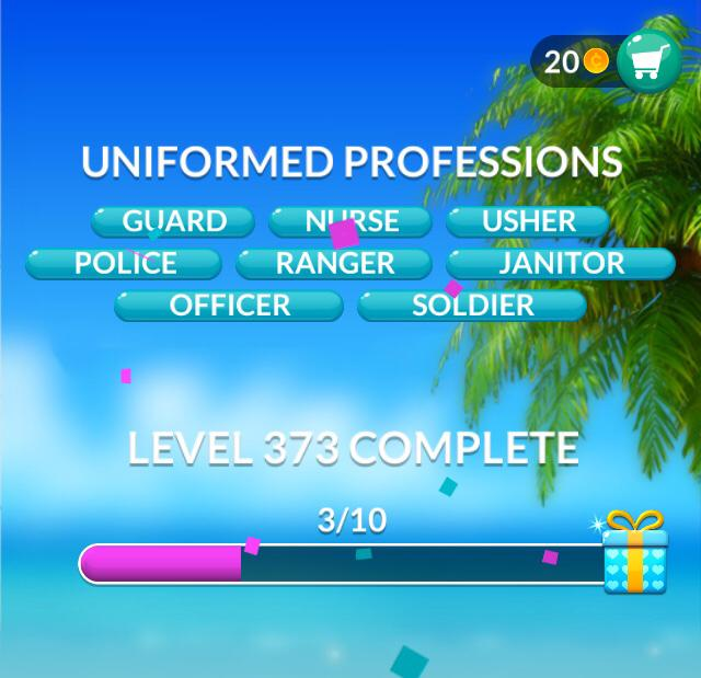 Word Stacks Level 373 Uniformed professions Answers