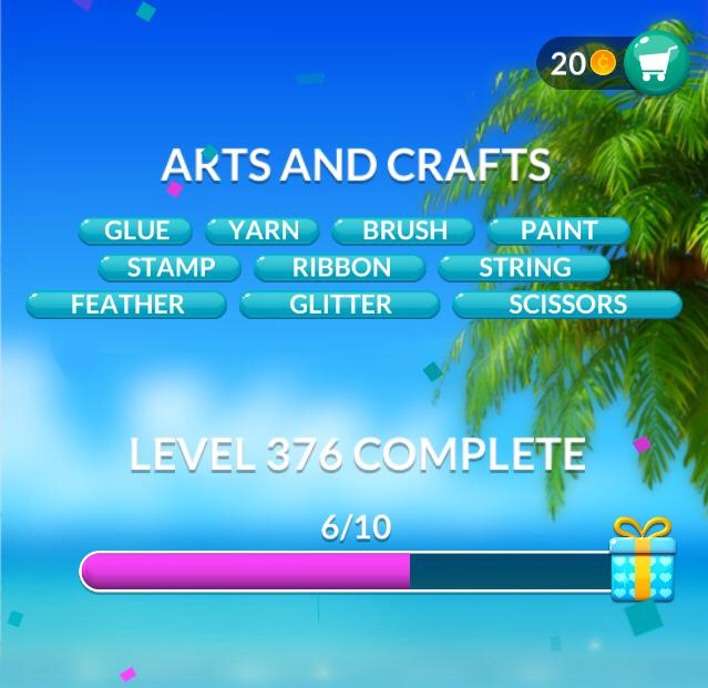 Word Stacks Level 376 Arts and crafts Answers