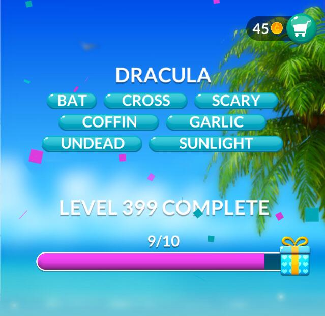 Word Stacks Level 399 Dracula Answers