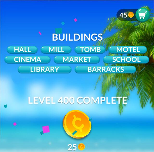 Word Stacks Level 400 Buildings Answers
