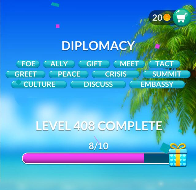 Word Stacks Level 408 Diplomacy Answers