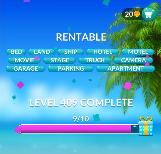 Word Stacks Level 409 Rentable Answers
