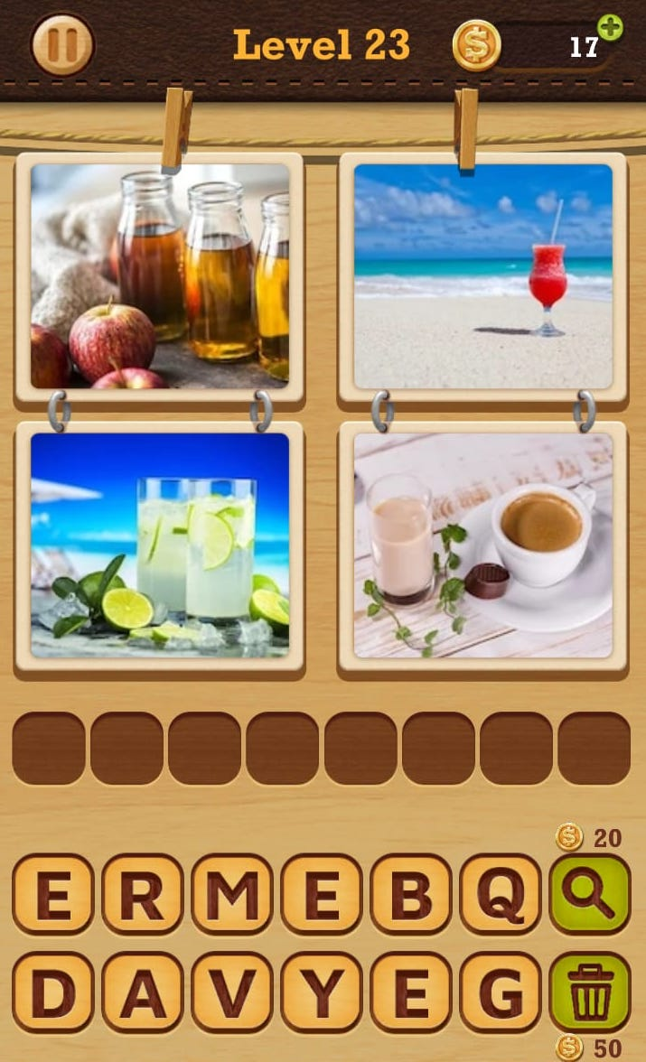 4 Pics 1 Word answers - Easy
