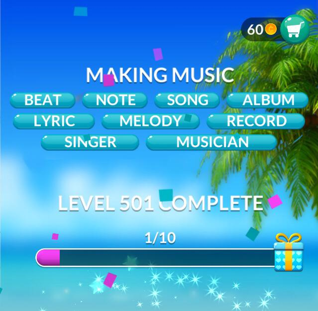 Word Stacks Level 501 Making music Answers