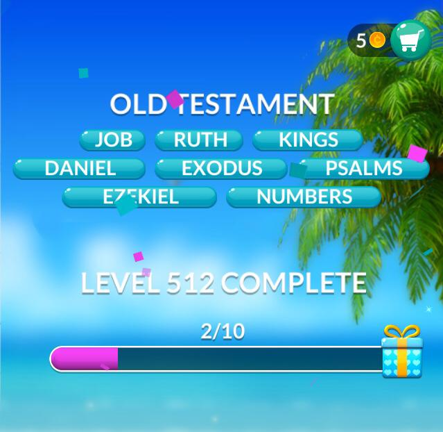 Word Stacks Level 512 Old Testament Answers