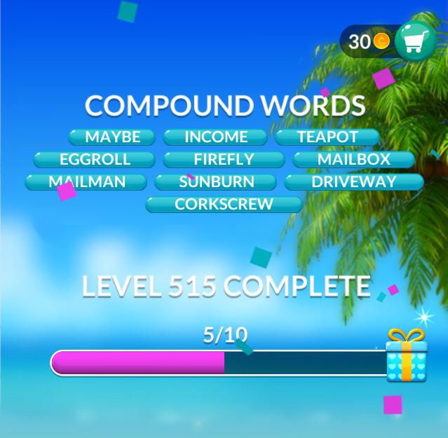 Word Stacks Level 515 Compound words Answers
