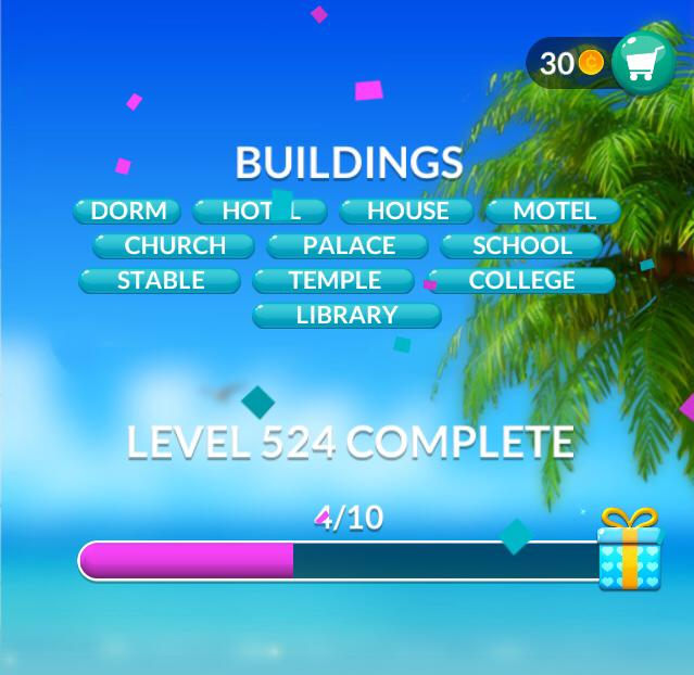 Word Stacks Level 524 Buildings Answers