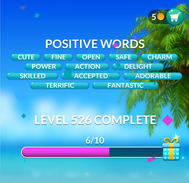 Word Stacks Level 526 Positive Words Answers