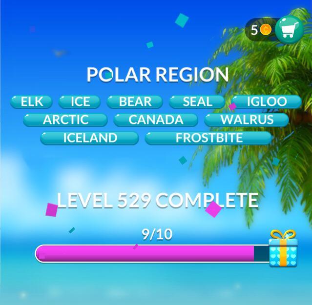 Word Stacks Level 529 Polar region Answers