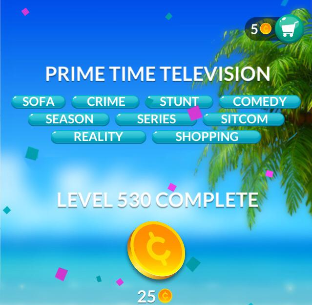Word Stacks Level 530 Prime time television Answers
