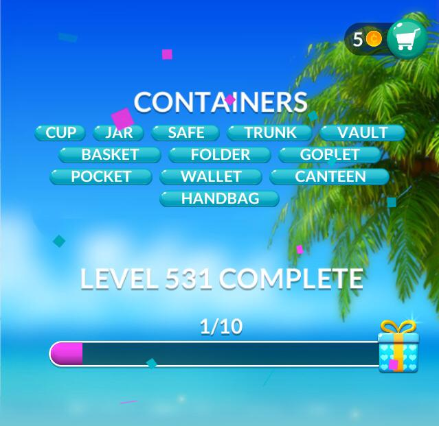 Word Stacks Level 531 Containers Answers